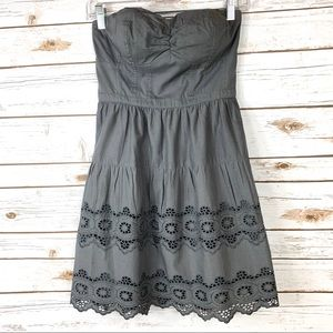American Eagle Outfitters Gray Strapless Dress 2